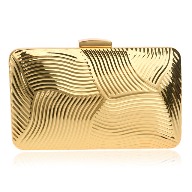NEW Tin vintage European style clutch women evening bags handbags clutches purse evening bag black/gold/silver color