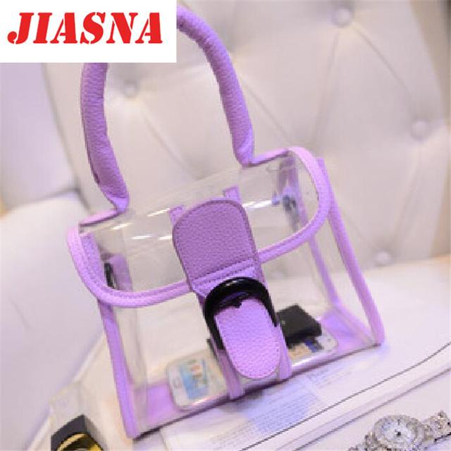 Jiasna Transparent Bag Fashion Las Handbag 2017 New Jelly C Women Channel