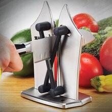 Дизайн, экономичная точилка для ножей из нержавеющей стали, керамический кухонный нож, Точило фиксированный угол