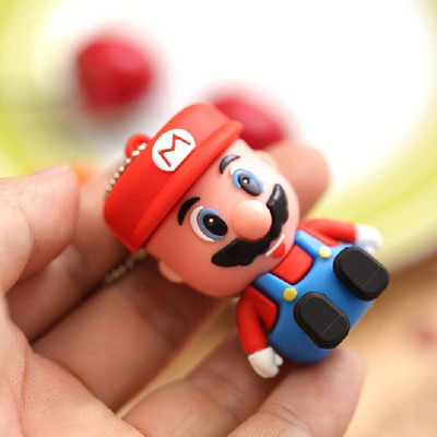 New 2017 3D Cartoon Figure Super Mario External Storage 2.0 USB Memory Flash Card Pen Drive 8GB 16GB 32GB 64GB Pendrive Stick