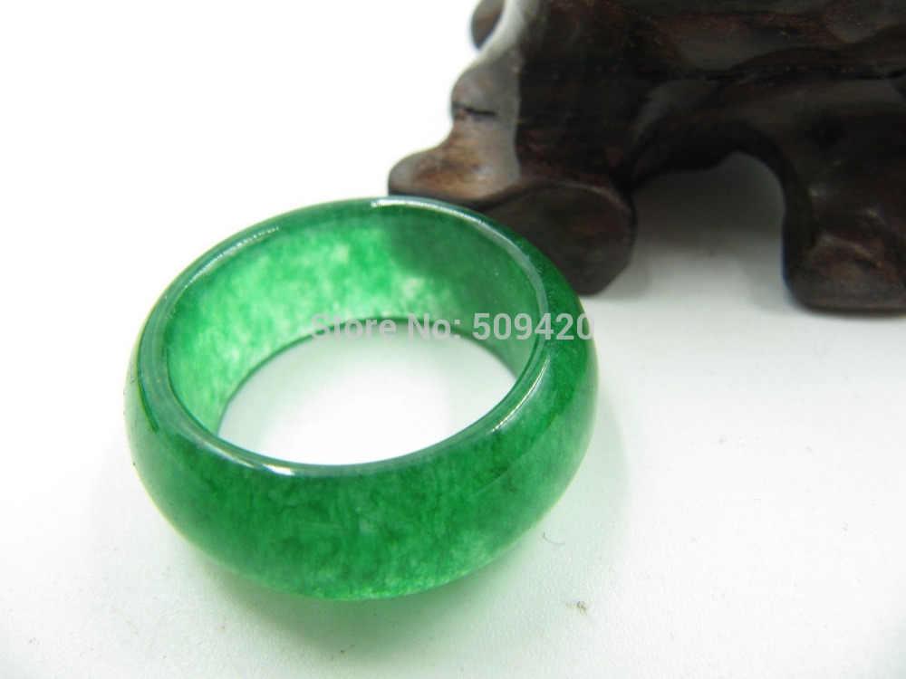 14102>>อิมพีเรียลจีนสีเขียว/Jadeiteแหวน/ที่สมบูรณ์แบบผู้หญิงแหวน