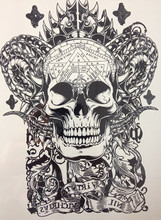 ARRIVAL 21 X 15 CM Cool Skull Waterproof Hot Temporary Tattoo Stickers #11