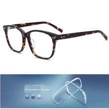Vazrobe Acetate Glasses Men Women Square Customize Myopia/di