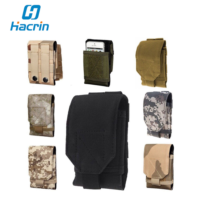 hacrin For Blackview BV6000 Case Outdoor Army Camo Camouflage Phone Bag Hook Loop Belt Pouch Holster Cover For Cubot dinosaur
