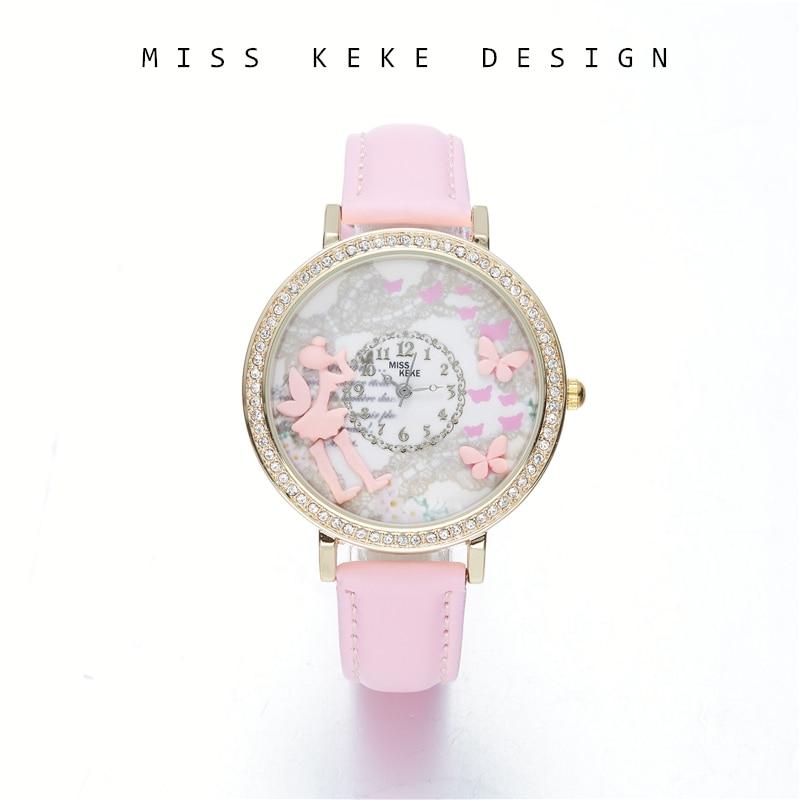 2018 Nieuwe collectie 3D klei schattige mini wereld Floral horloges - Dameshorloges