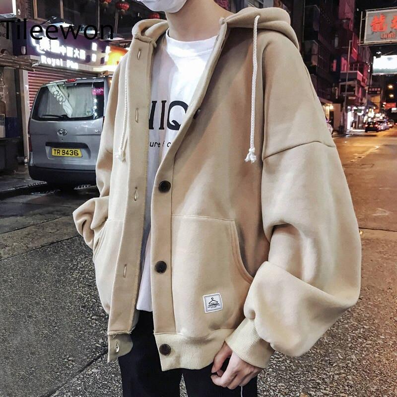 New 2019 Cool Casual Winter Fleece Hoodies Men Women Harajuku Solid Color Warm Sweatshirt Korean Teens Fashion Hoodie Sweatshirt