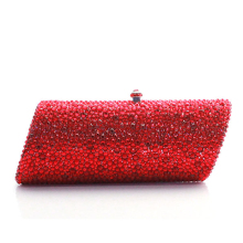 red gold white purple Diamond Minaudiere Clutch Evening Bags Women Wedding Party Cocktail Handbag Bridal Crystal Purse lady bag