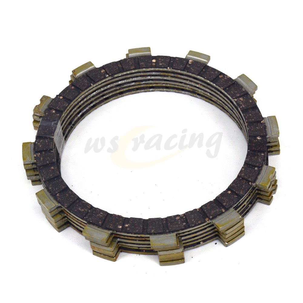 6 Pcs Motorcycle Engine Parts Clutch Friction Plates Fit For SUZUKI RM100 RG125 RM125 TS125R TV125 DS185 TS185 DF200E <font><b>DR200</b></font> image