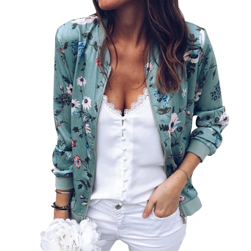 Vintage Floral Zipper Up   Basic     Jacket   Women Mandrain Collar Print Zipper Casual Coat Winter Women Outerwear Clothes Autumn New