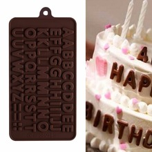 3D Creative Double 26 Alphabet Letter Silicone Cake Chocolate Mould Fondant Cookie Christmas Decor Tools