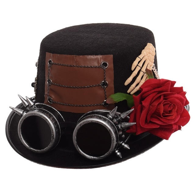 Шляпа в стиле стимпанк с очками в ассортименте вариант 6 3