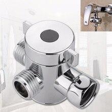 Кран для ванной комнаты, запасные части 1/2 дюйма, трехходовой Т-адаптер, клапан для туалета, биде, душевая головка, переключающий клапан