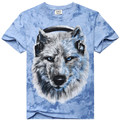2017  Tshirt Homme New Camisetas  Novelty wolf  bear animal Men T-Shirts Tshirts 3D Print Tops O-Neck Short Sleeve BTML009