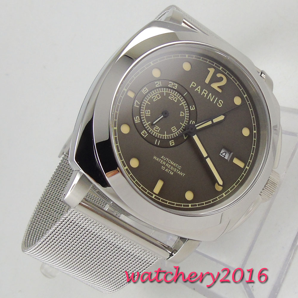 Men Military Sapphire Glass Wristwatch 21 Jewels Miyota Automatic Watch
