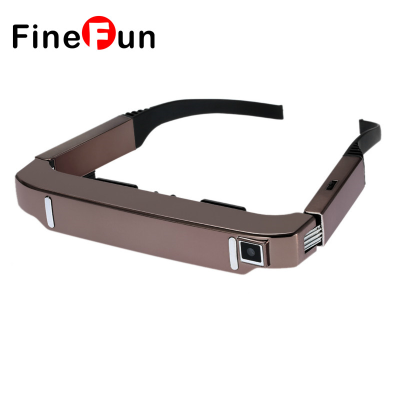 VISION-800 Smart Android WiFi Glasses 80 Wide Screen Portable Video 3D Glasses Private Theater w/ Camera Bluetooth Media Player dream vision 3d glasses edge 1 2 by volfoni