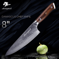 Professional Chef Knife VG 10 Blade Damascus Steel 8 inch 67 Layer Santoku Knife Kitchen Knives Cooking Tool Cutting Wood Handle
