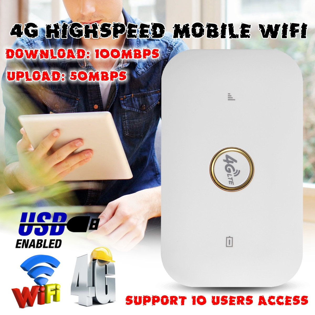 4G LTE cat3 Mobile WiFi Wireless P ocket Hotspot Portable Router Modem for Outdoor Sport Travel Business Trip 4g lte mobile wifi wireless router hotspot led lights supports 10 users portable router modem for car home mobile travel camping
