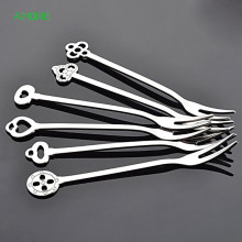 Stainless Steel Fruit Forks Dinnerware Salad Fork Party Dessert Forks Bar Flatware Tablewares