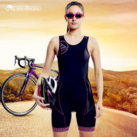 Santic Women Trisuit Bike Sleeveless Triathlon Suit for Run Swim Cycle Elastic Triathlon Jersey Triathlon Skinsuit L5C03008H