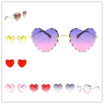 цены Women Stylish Heart Shaped Rimless Sunglasses Thin Metal Frame UV Protection Sun Glasses for for Beach Vacation Festival Fishing