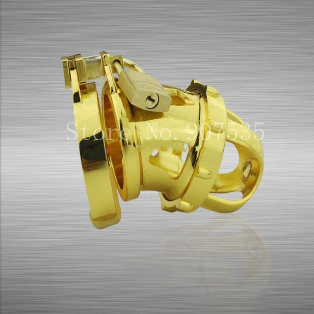 2016 New Arrival! Lastest design zinc alloy Male Chastity Device Penis Lock Cock Cage With Brass Lock Adult Sex Toys