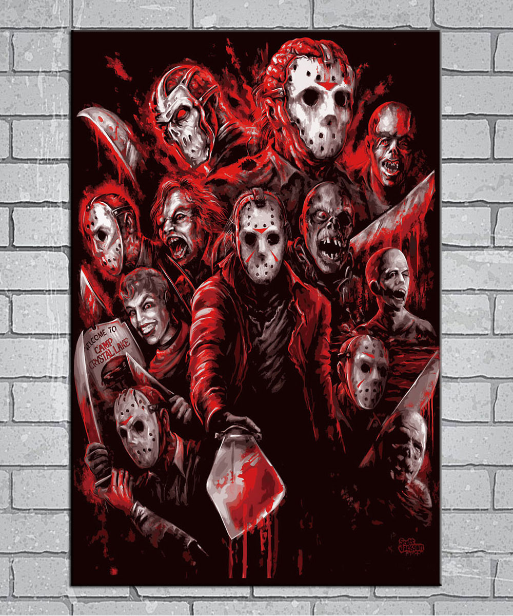 Jason Voorhees Friday the 13th Horror movies slasher Light