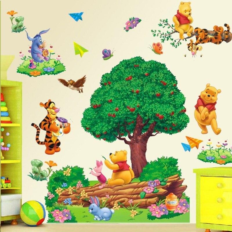 Winnie The Pooh Tree Wall Sticker Removable Art Kids Playroom Vinyl Decor  Mural(China (
