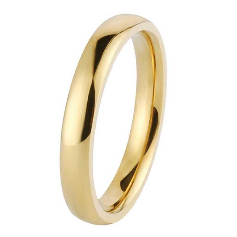 2 مللي متر بسيطة قلادة فضية من الفولاذ المقاوم للصدأ/الذهب/أسود/روز الذهب خاتم الخطوبة خواتم زوجين خواتم مجوهرات الأزياء النسائية زينة