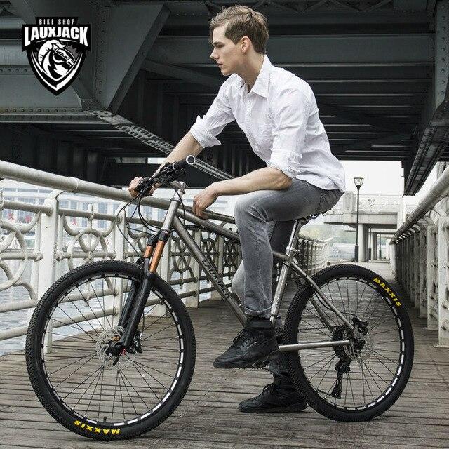 Comparar LAUXJACK bicicleta de montaña titanium marco 30 velocidades ...