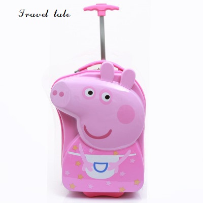 Travel tale Lovely, beautiful cartoon ABS 17 inch size Rolling Luggage Spinner brand Travel Suitcase beautiful darkness