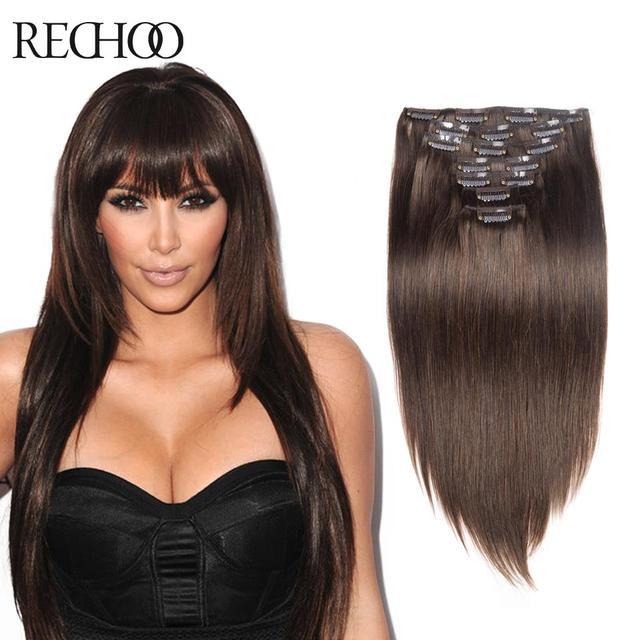 Human Hair Clip In Extension 100 Human Remi Hair Human Clips Hair