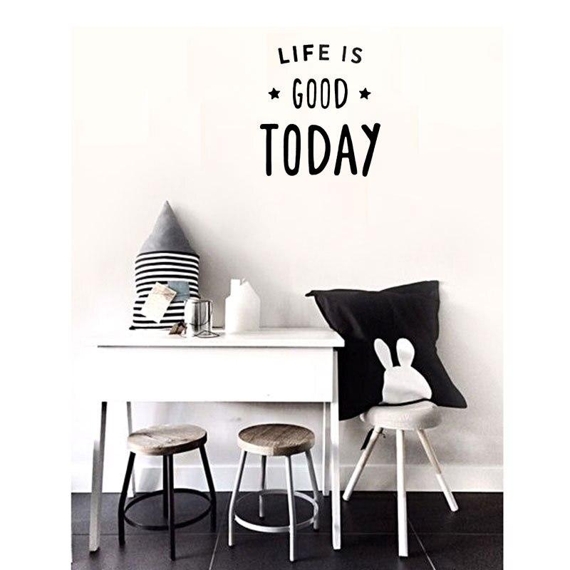 życie Jest Dziś Przysłów Motto Diy Naklejki ścienne Do