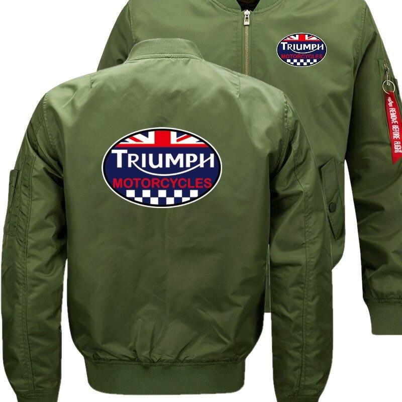 Куртка-бомбер Flight летающие куртка Триумф мотоциклы зима Сгущает Теплый молнии Для мужчин куртки аниме Для Мужчин's Повседневное пальто nbw +