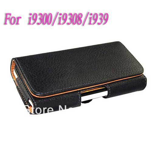 Free shipping flip Belt Clip Holster Holder leather hard case cover wallet for Samsung Galaxy S3 S III 3 I9300
