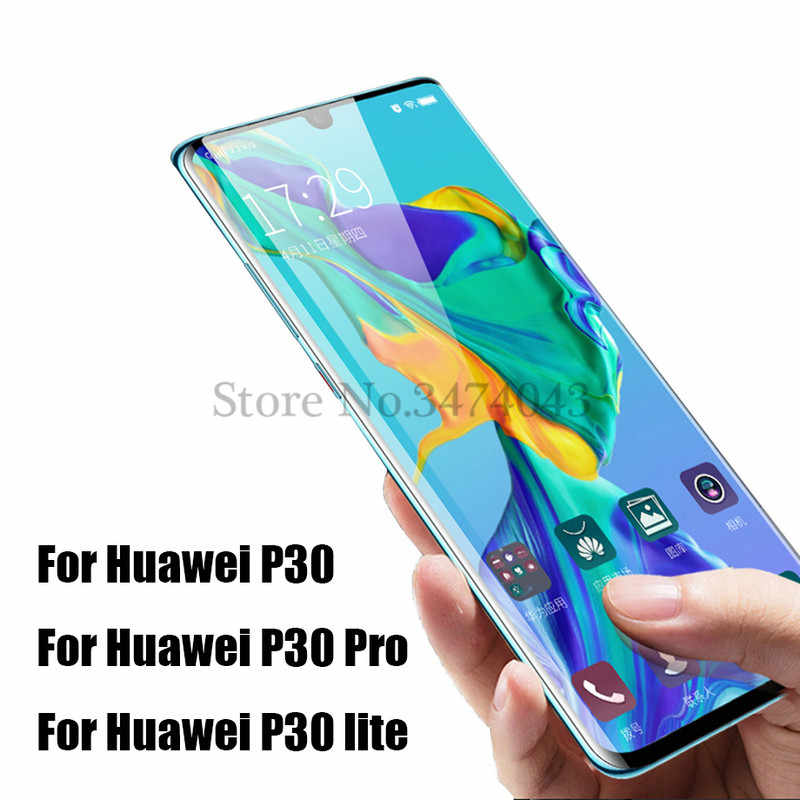 Full Tempered Glass For Huawei P30 Pro Full Cover Screen Protective Anti blue-ray Protector Film For Huawei P30 lite Pro Glass