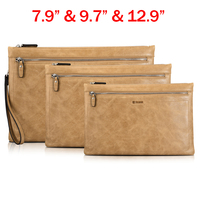 Genuine Leather Wallet Tablet Sleeve Pouch Bag Case For IPad Air 1 2 IPad Mini 2