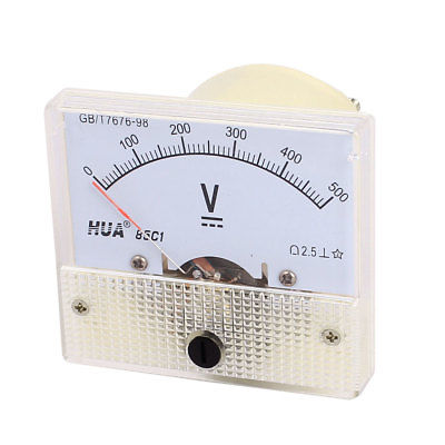 AC 0-500V Class 2.5 Analog Panel Voltmeter Voltage Meter Measuring Gauge