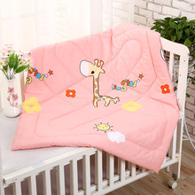 100*110 CM Baby Summer Quilt Quilted Cotton Cartoon Animal Newborn Blanket Mattress Air Conditioning Kids Bedding