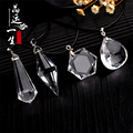 High quality natural quartz White crystal pendant pendulum rhombus pendants 45mm chakra pendule suspension healing Holiday gifts