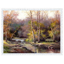 DMC 14CT unprinted Cross stitch kits For Embroidery Brook Forest patterns Household Counted Cross-Stitching embroidered