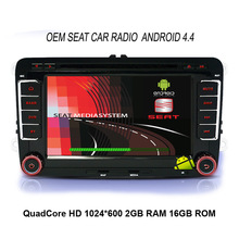 7″ Capacitive Screen Quad Core Android 4.4 Car DVD Player Navigation Can Bus for VW Volkswagen Skoda Seat RNS510 OEM Audio GPS
