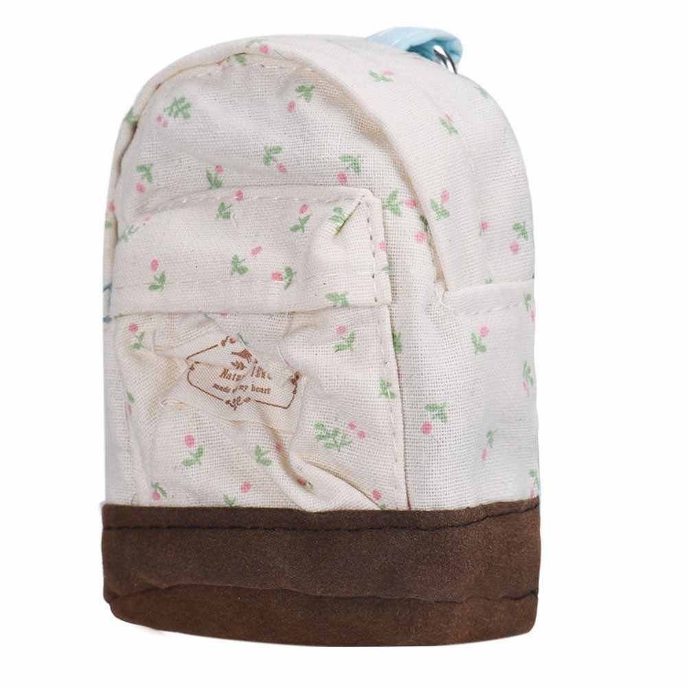 Tessuto della Tela di Canapa di modo di Kawaii Mini Floreale Zaino Delle Ragazze Delle Donne di Bambini A Buon Mercato Cambiamento Sacchetto della Moneta Borse Sacchetti di Frizione Monedero HW # x40