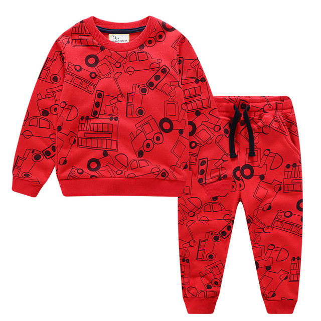 Children Winter Clothes Baby Boys Cartoon Clothing Sets Cute Rabbit Printed Warm Sweatsets for Baby Boys Girls Kids Clothes 4