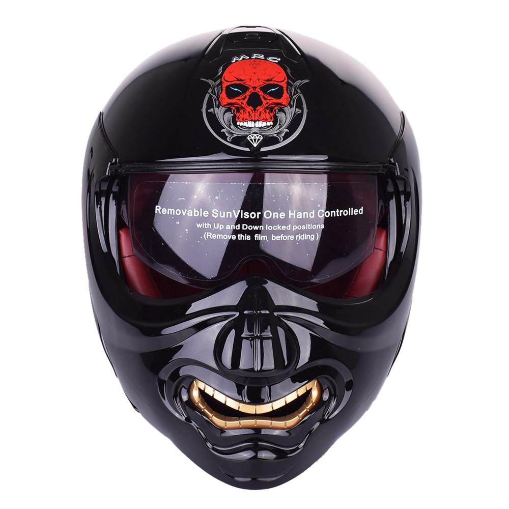 Здесь можно купить   New Monster Face Modular Motorcycle Helmet Full Face Punk Motobike Motocicleta Cacapete Casco Casque Kask Moto Flip up Helmets Автомобили и Мотоциклы