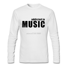 Men's addicted to music Long Sleeve Tee Great Discount Slim Fit Online Tees Boy Printed Clothing T-Shirt