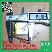 Seguridad Packing_L4 3.7 v batería 400 mah de polímero de litio 303035 033035 MP3 MP4 grabadora, con Placa de Protección de Batería