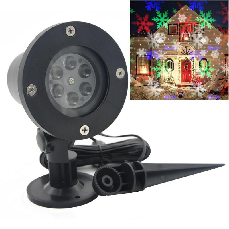цена на christmas laser projector Activated Moving Dynamic Snowflake Film Projector Light Pattern Decoration Lamp laser christmas lights