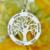 Atacado Colar de Árvore Genealógica Círculo Gravado Nome Colar de Prata Esterlina Mãe Mãe Colar de Jóias de Presente para a Sua Família
