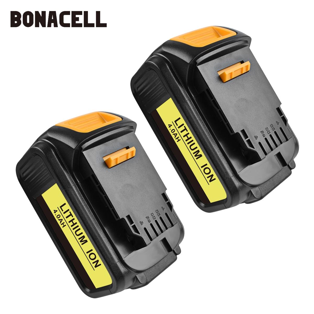 Bonacell For DeWalt 18V 4000mAh Battery Power Tools Batteries Replacement DCB181 DCB182 DCD780 DCD785 DCD795 L10
