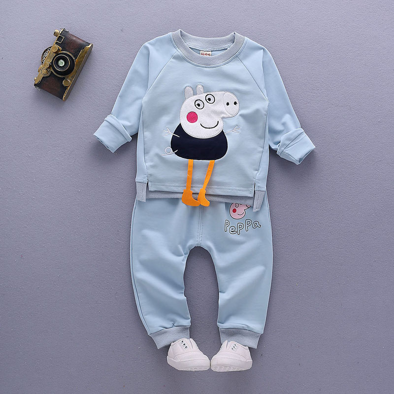 baby boys Girls clothing set Children spring autumn coat + pants kids clothes (1)